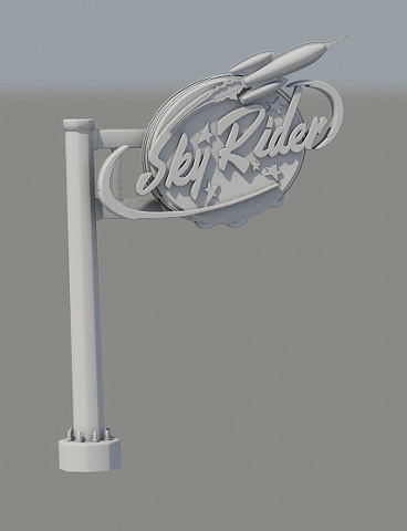 rocketsign 3d model