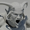 demon3d modelling closeup