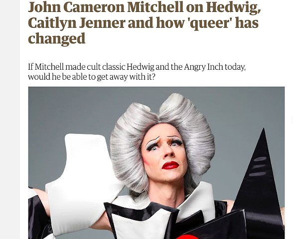 "The Guardian. Costumes by me for John Cameron Mitchell's, ""Origin Of Love,"" Tour https://www.theguardian.com/film/2018/jun/22/john-cameron-mitchell-on-hedwig-caitlyn-jenner-and-how-queer-has-changed"