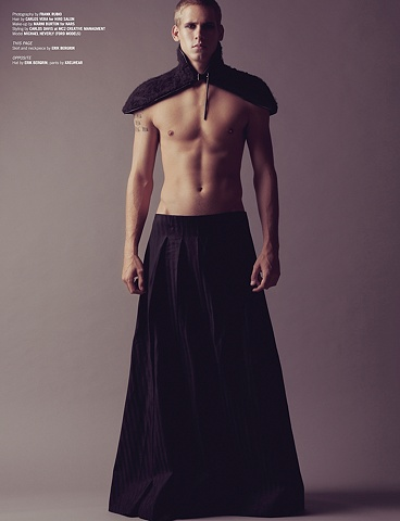 Neckpiece and Hakama skirt in Papercut Magazine
