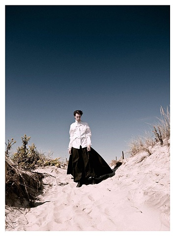 Top and hakama skirt in Fashionisto.com