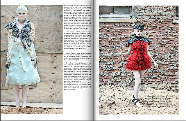Interview and clothing spread in Ultimate Magazine