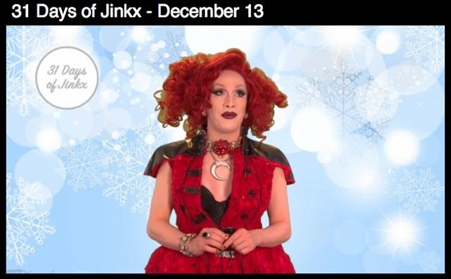 "Red Dress on Jinkx Monsoon in ""31 days of Jinkx,"" video on Logo Tv   see video here::"