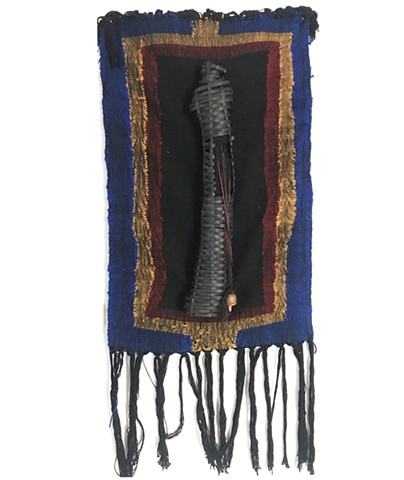 Woven SHADOWWORK wall tapestry with Reed Demon Doll
