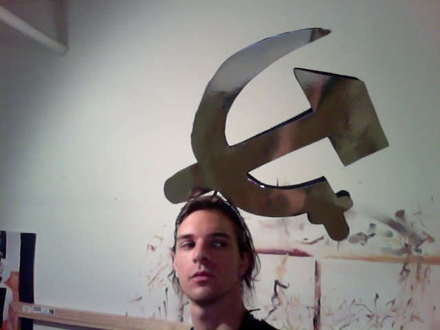 Communist symbol headpiece