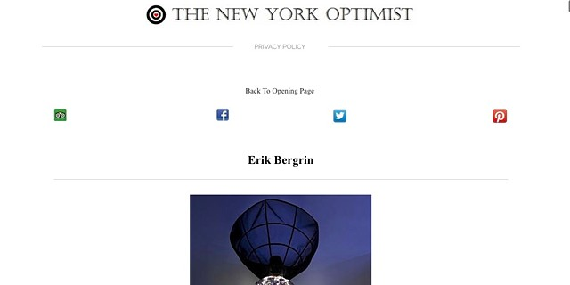 |Feature in The New York Optimist|http://www.thenewyorkoptimist.net/erik-bergrin---designer--artist--wearable-sculpture.html|