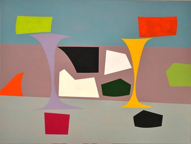 abstract painting, hard edge geometric art