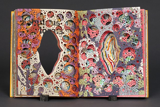 altered, alter, altered book, bookwork, bookworks, unique, one of a kind, cut paper, facebook, paper sculpture, book, unique book, surgeon's knife, power tools, cut, deconstructed,