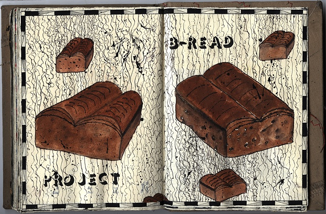 drawing, sketchbook, Doug Beube, stitch, sketch, one of a kind, book, altered, bookwork, unique,