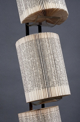 book, bookwork, bookworks, altered, altered book, unique, one of a kind, unique book, sculpture, power tools, architecture, fold
