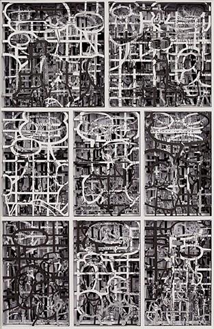 collage, art, cut-out, paper cut, layered, conceptual, fine art, cut paper, alter, altered, bookwork, book, bookworks, unique book, one of a kind, altered book,