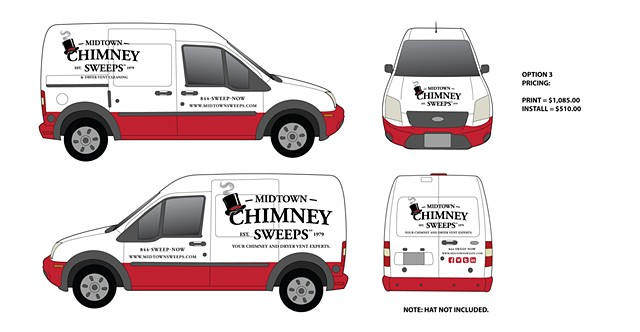 Midtown Chimney Sweep Van Wrap