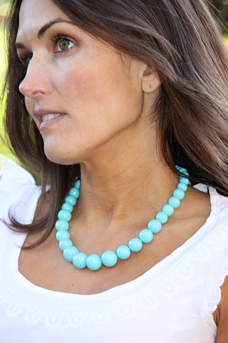 Turquoise Shell Pearl Necklace