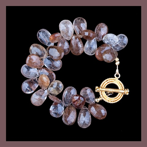 Copper Rutilated Quartz Bracelet