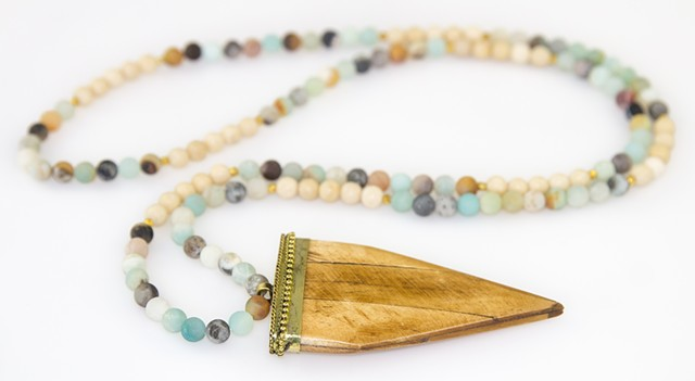 Arrowhead & Amazonite Necklace