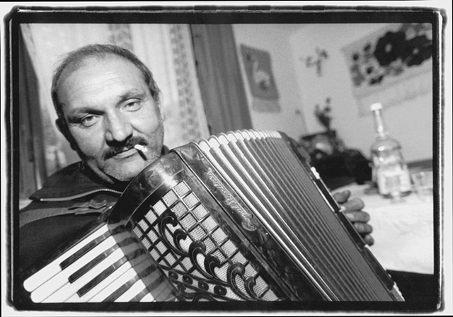 Accordion Player at Home-Slovakia