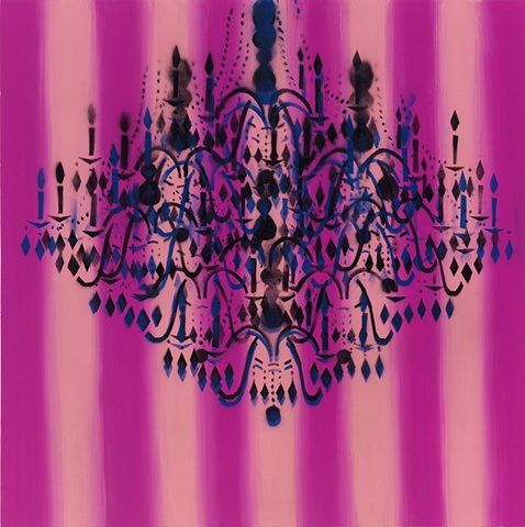 Chandelier Pink Stripe