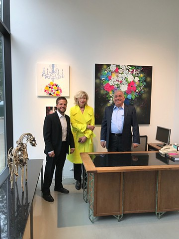 Solo exhibition: On The Bright Side  Sept  6 - Oct.12, 2019 Zolla/Lieberman Gallery, Chicago Lorraine Peltz with William Lieberman, Owner  and Brian Gillham, Director