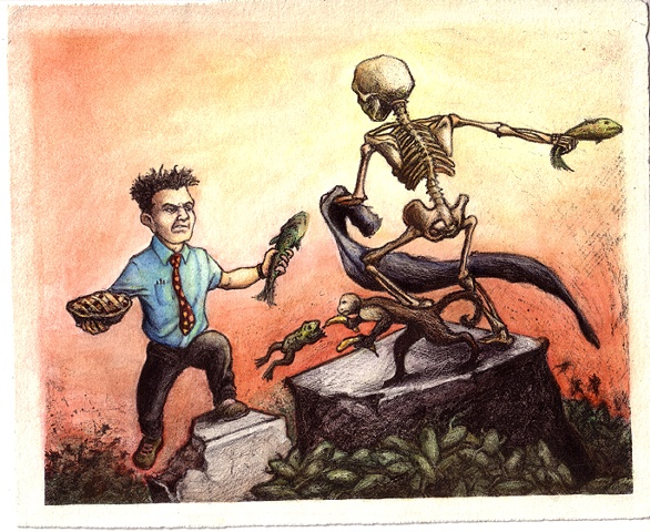 Marcus Howell, Marcus Howell art, pop surrealism, lowbrow, lowbrow art, lithography, printmaking
