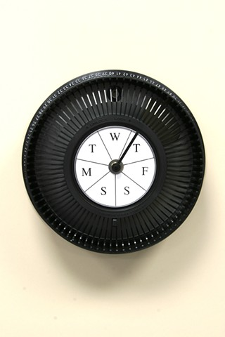 """Weekly Clock"" (type #3 black)"