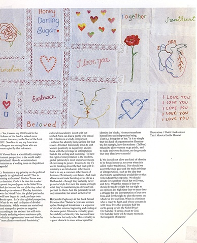 embroidery, FJORDS magazine