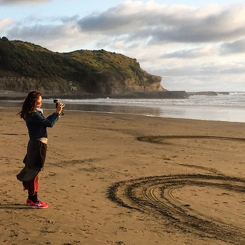 Standing at the exact antipodal coordinate to 11650 Villamartin, Cadiz Province, Southern Spain. @Muriwai Beach, New Zealand