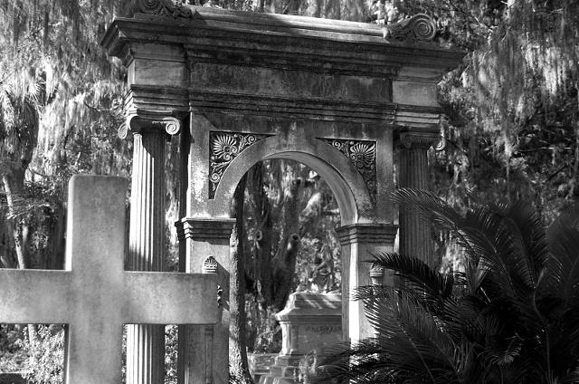 Bonaventure Cemetery #1- b&w