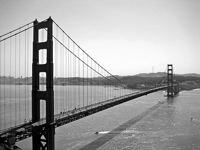 Golden Gate Bridge- BW