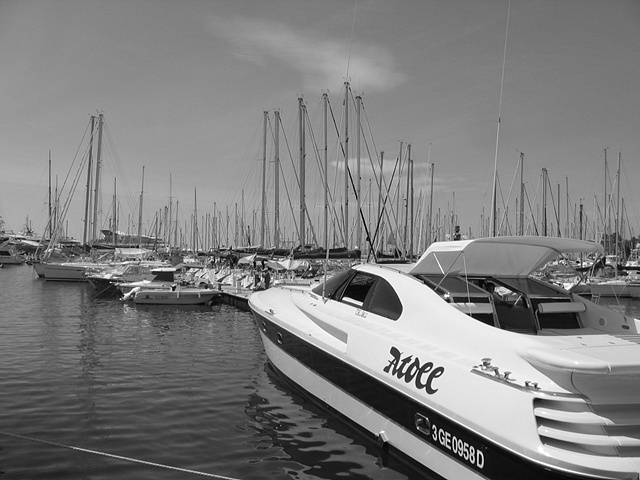 cannes bw boats