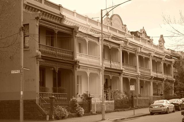 Sepia Houses