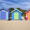 3 bright beach houses