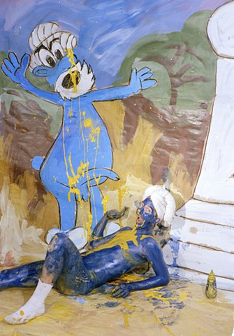 Smurf (pissing in hand) 1992