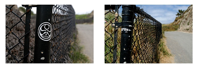 Fence San Clemente: March 2004, March 2005