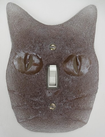 Cat Lightswitch Plate