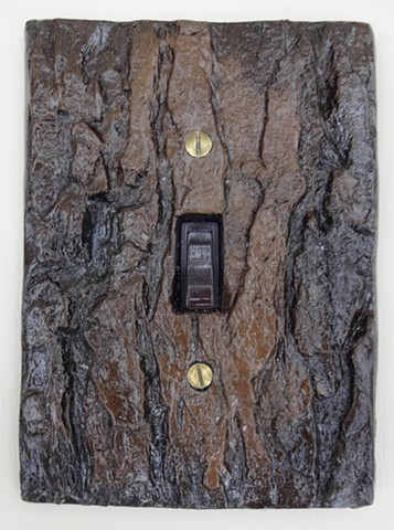 Square Bark Lightswitch Cover