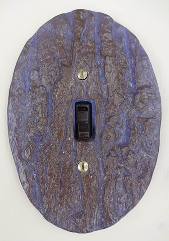 Oval Bark Lightswitch Cover