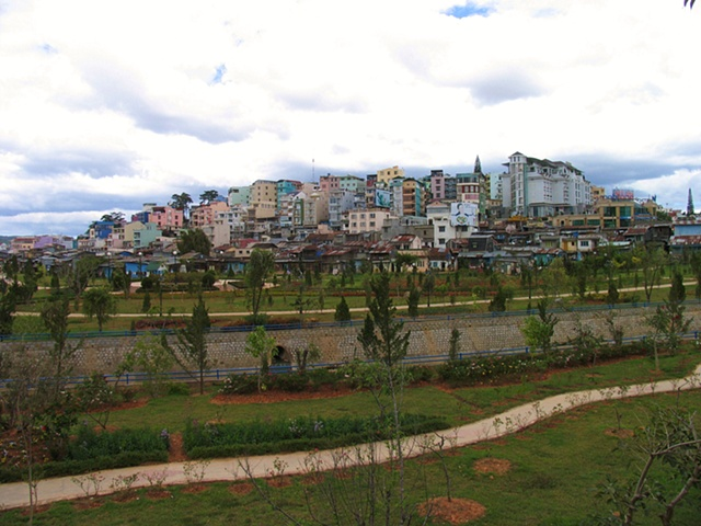 The city of Da Lat, Vietnam