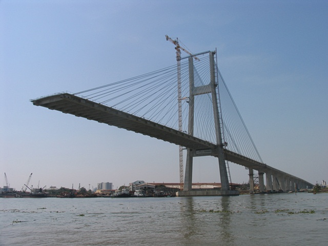 The new Saigon River bridge, a testament to the expansion and development that is occuring exponentially in Vietnam.