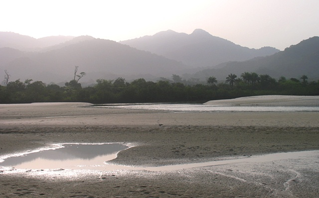 The pristine beach at River No.2, Freetown peninsula