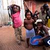 Children of a slum in downtown Freetown.