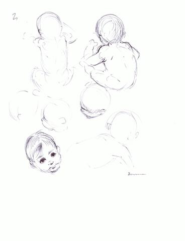 Luis Borrero - Sketch of my son Daniel