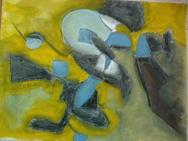 Carmelo Sobrino - Abstracto Amarillo