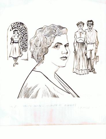 Rafael Tufino - Drawing of Isabel de Andreu de Aguilar