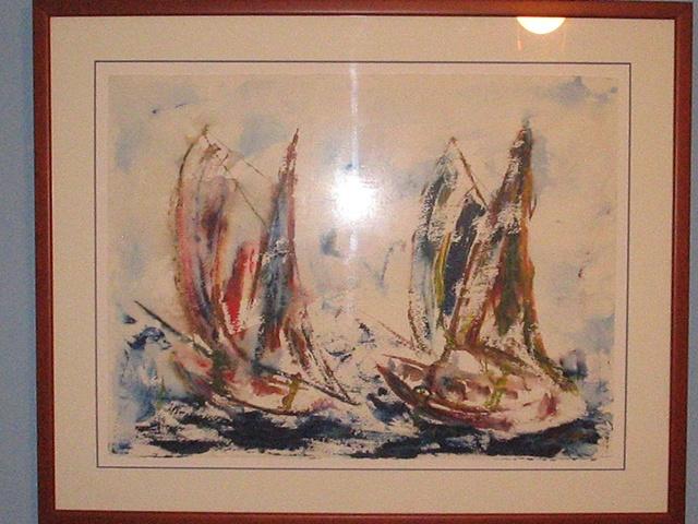 E. Mora - Sailboat in a Storm