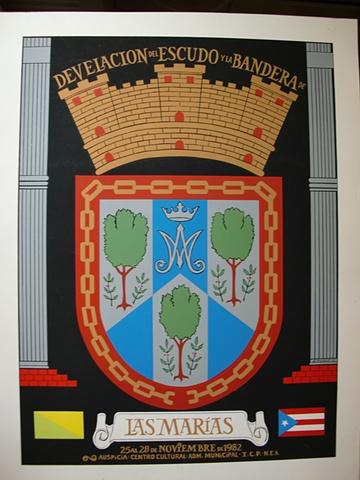 Develacion Escudo y Bandera de Las Marias