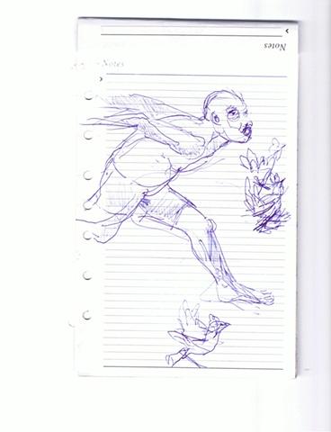 Aby Ruiz - Hombre Corriendo con Gallina