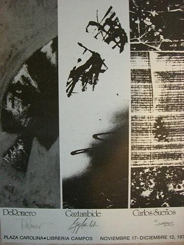 Carlos Suenos - Col. Peter Gaztambide and Ralph De Romero - Joint Exhibition Poster