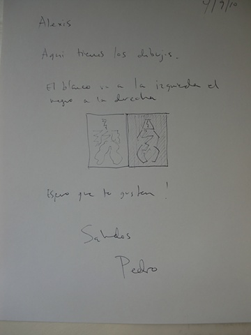 Instruction drawing for Picasso drawing