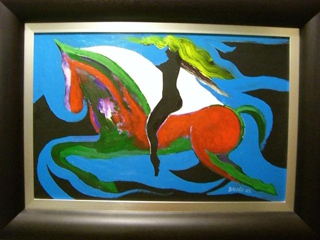 John Balossi - Mujer en Caballo Rojo