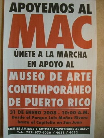 Cartel Apoyo al MAC